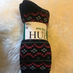 NWT Wool Blend Socks-Red, Black, Gray